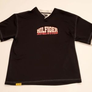 Vtg Tommy Hilfiger Spell Out Jersey XL